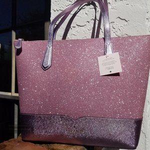 Kate Spade  Lola Glitter Tote Pink  Christmas gift